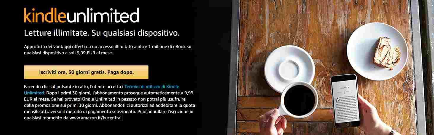 Iscrizione Kindle Unlimited