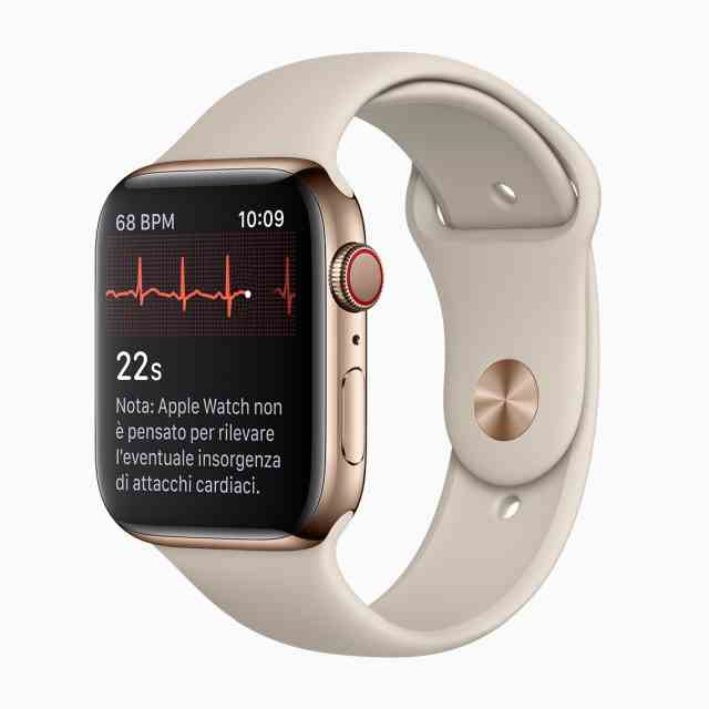 Apple Watch 4 Elettrocardiogramma