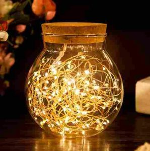 Vaso Decorato Con Luci LED