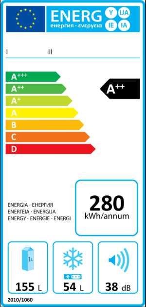 Etichetta Efficienza Energetica Frigocongelatore