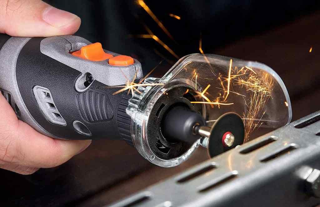 Utensile Rotante Senza Fili,MoreChioce 5V Kit Multi-Utensile Mini Drill Senza Fili a 3 Velocit/à Pulizia e Incisione,105PCS Set di Utensili Rotanti con Luce a LED per Lucidatura