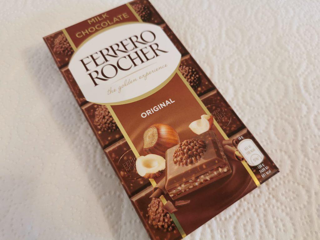 Recensione Ferrero Rocher Tavoletta di Cioccolato al Latte Ripieno di Nocciola